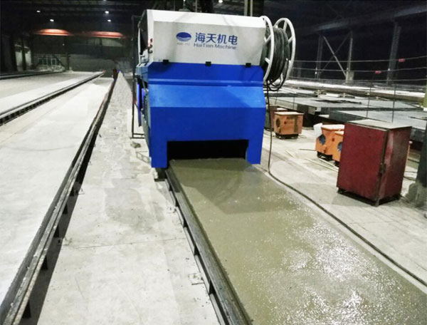 河北晶通多功能预应力预制构件生产线生产现场