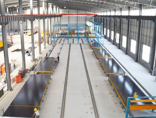 济南方圣PC生产线生产现场