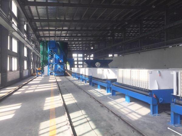 宁波宝技卧式立模墙板生产线现场