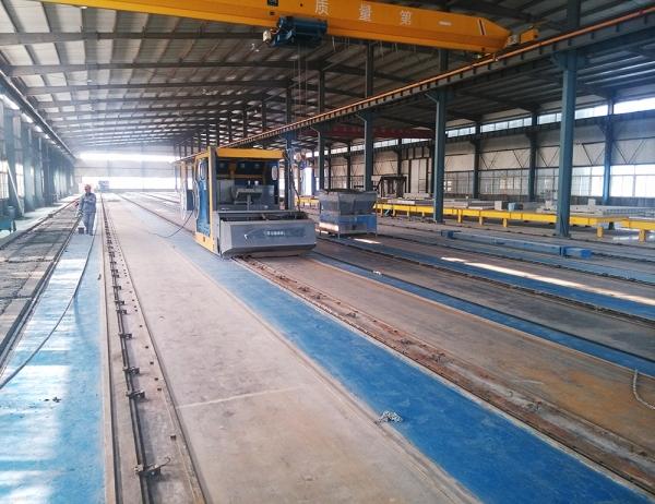 济南中心绿建预应力长线台生产线现场